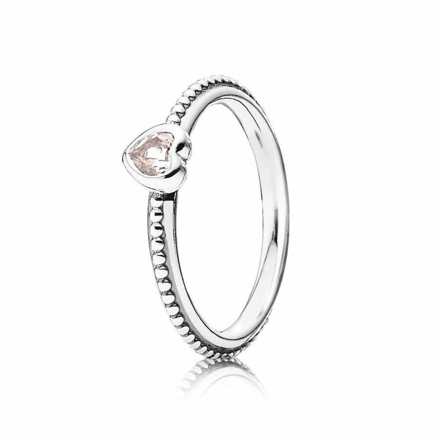 Heart silver ring 190896SLP