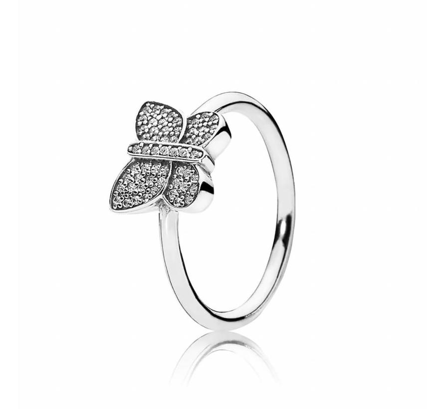 Butterfly silver ring 190938CZ