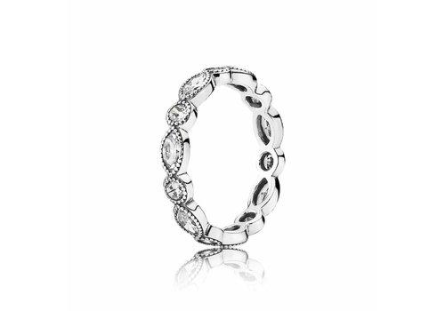 Pandora Round Oval Eternity ring 190940CZ