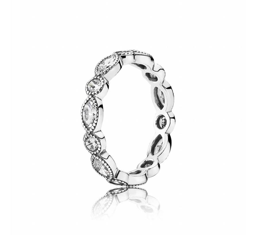 Round Oval Eternity ring 190940CZ