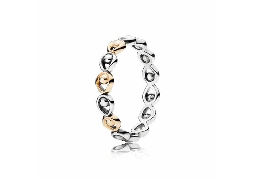 Pandora ring with 14kt gold 190961