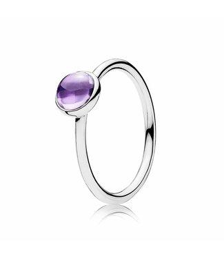 Pandora Purple Poetic Droplet ring 190983ACZ