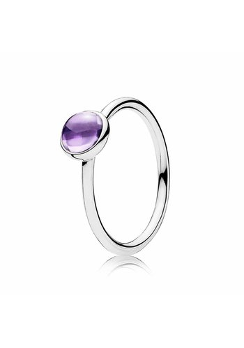 Pandora Silver ring with purple zirconia 190983ACZ