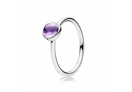 Pandora Silver ring with purple zirconia 190983ACZ