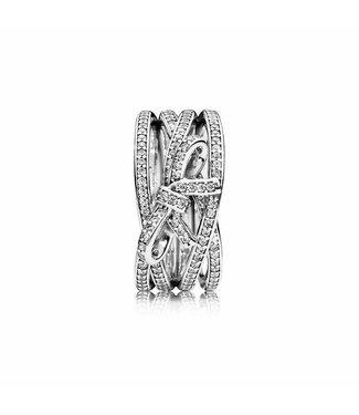 Pandora Bow silver ring 190995CZ