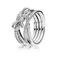 Bow silver ring 190995CZ