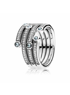 Pandora Silver ring with Frosty crystals 191002CZF