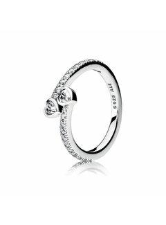 Pandora Hearts silver ring 191023CZ