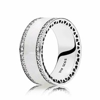 ring Pearlescent Hearts of Pandora Band 191024EN23