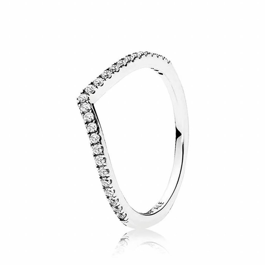 ring Wishbone with zirconia 196316CZ