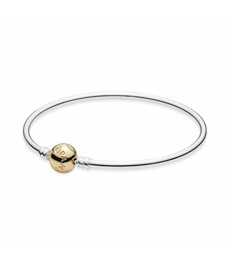 Pandora Silver bangle with 14kt clasp 590718