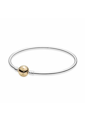 Pandora Silver bangle with 14kt clasp 590718