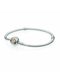 Pandora Logo silver bracelet with 14kt 590741CZ