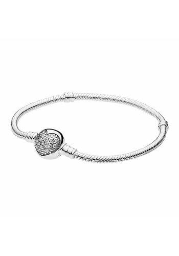 Pandora Silver bracelet with clear zirconia 590743CZ