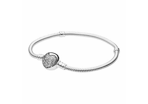 Pandora Silver bracelet with clear zirconia 590743CZ