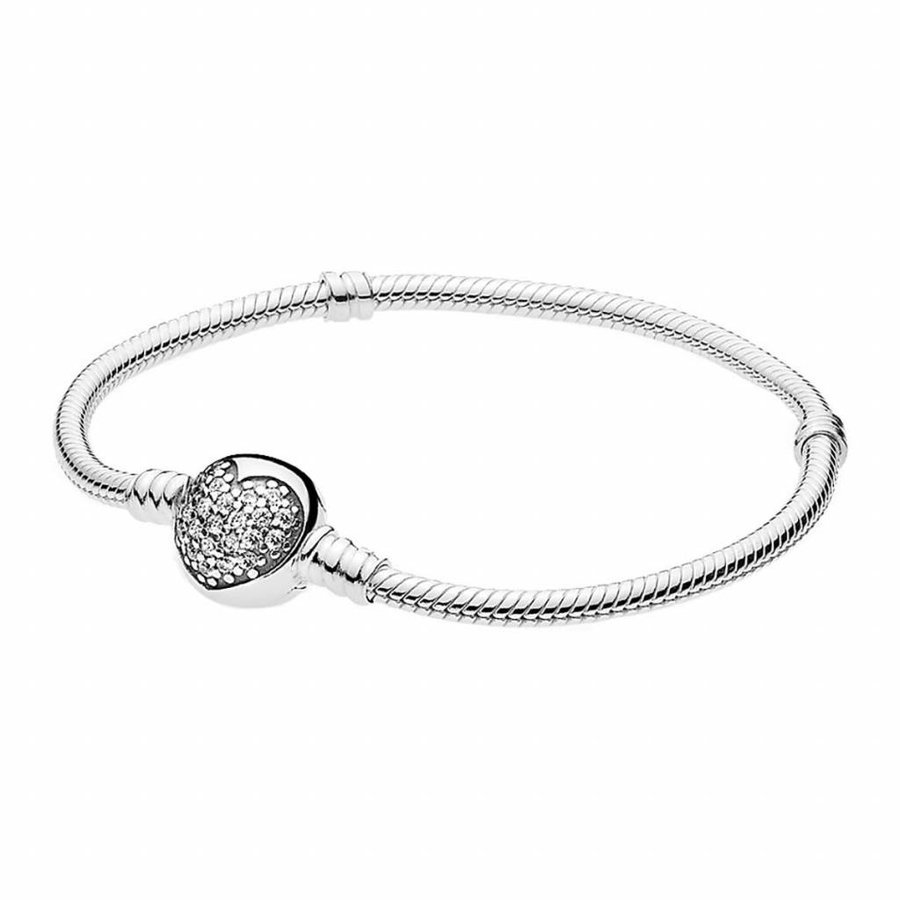 Silver bracelet with clear zirconia 590743CZ