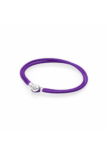 Pandora Moments Fabric Cord bracelet Purple 590749CPE