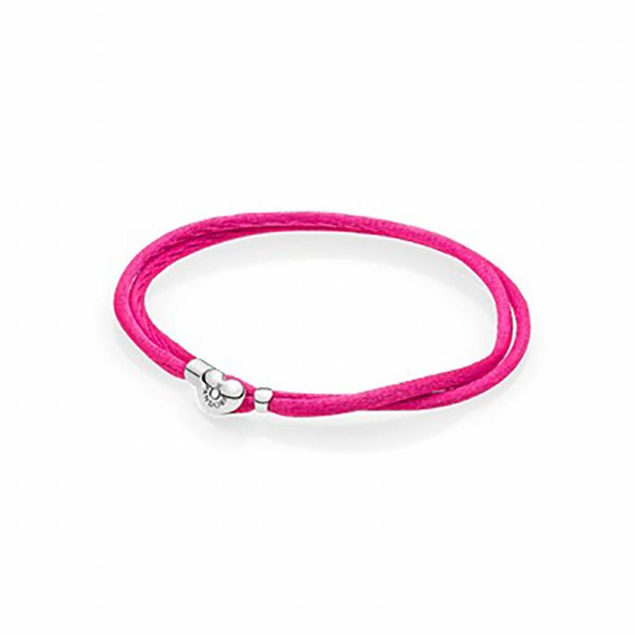 Moments Fabric Cord bracelet Pink 590749CPH