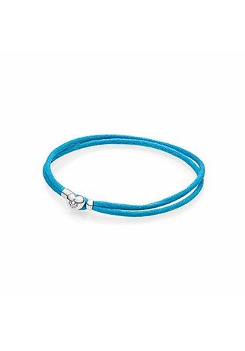 Pandora Moments Fabric Cord bracelet Turquoise 590749CTQ