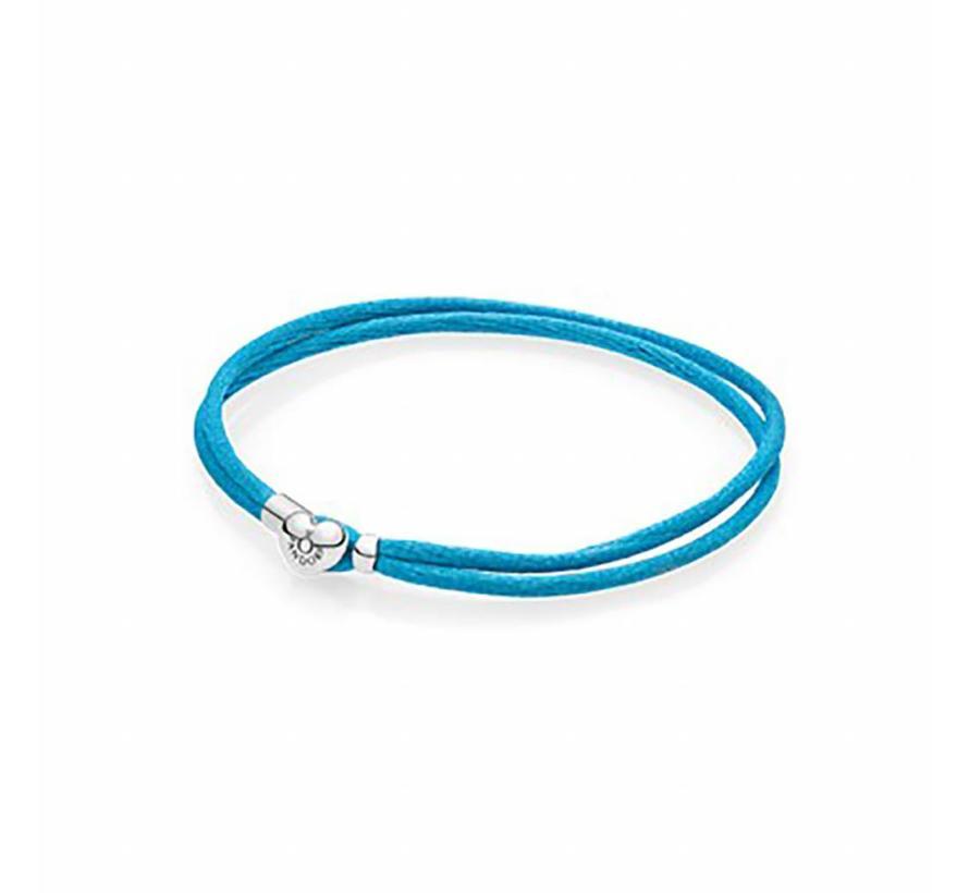 Moments Fabric Cord bracelet Turquoise 590749CTQ