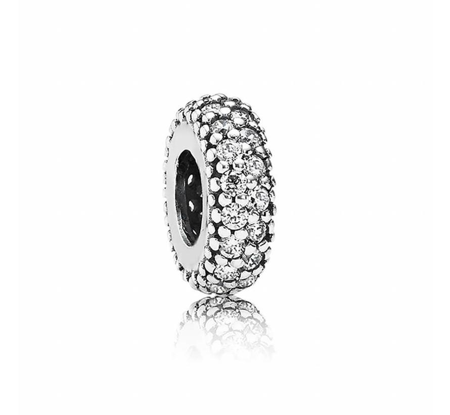 Abstract silver spacer with cubic zirconia 791359CZ