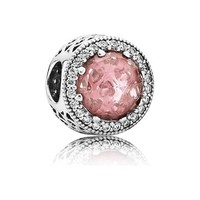 Abstract with blush pink crystal and clear cubic zirconia 791725NBP