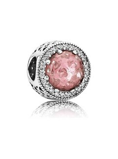 Pandora Abstract with blush pink crystal and clear cubic zirconia 791725NBP