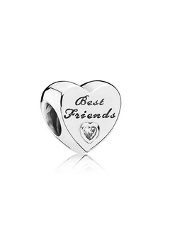 Pandora Best Friends heart with clear cubic zirconia 791727CZ
