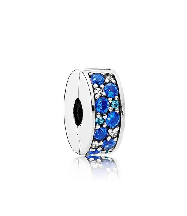 Pandora Blue Mosaic Shining Elegance Spacer clip 791817NSBMX