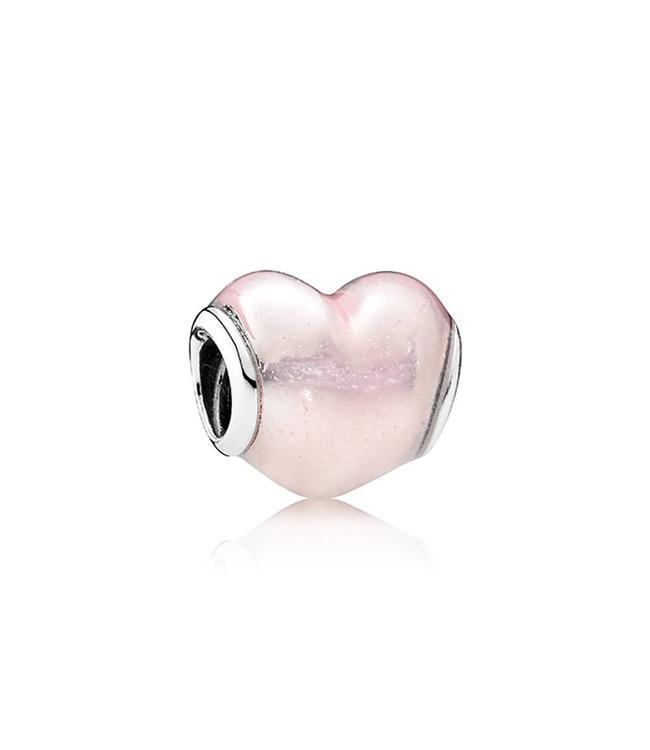 Pandora Heart with glittery pink enamel 791886EN113