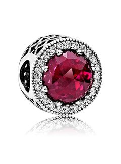 Pandora Abstract with cerise crystal and clear cubic zirconia 791725NCC