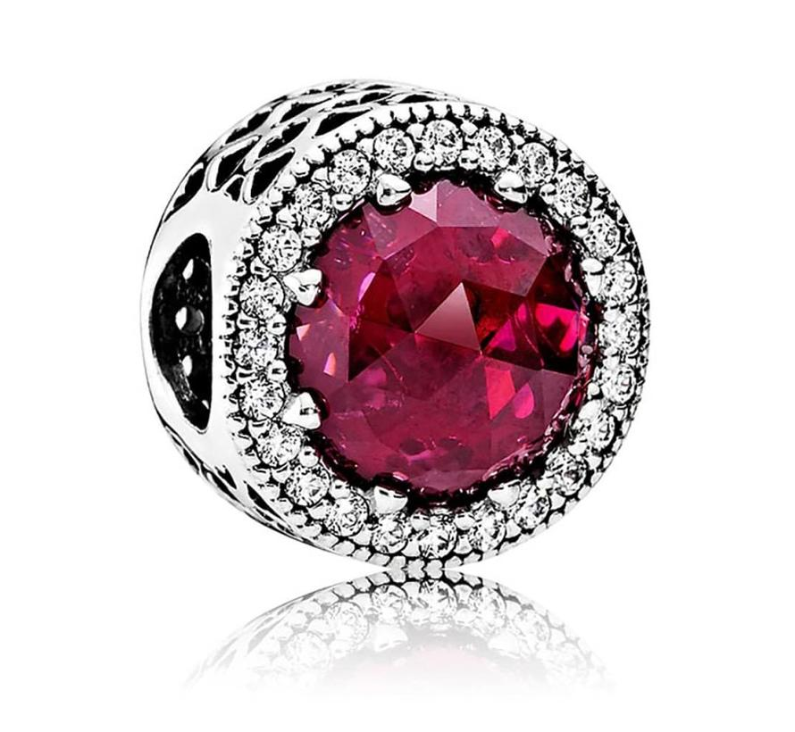 Abstract with cerise crystal and clear cubic zirconia 791725NCC