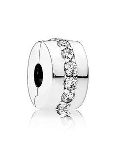 Pandora Silver clip with clear cubic zirconia 791972CZ