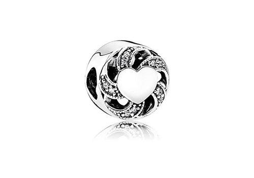 Pandora Silver charm with clear cubic zirconia 791976CZ