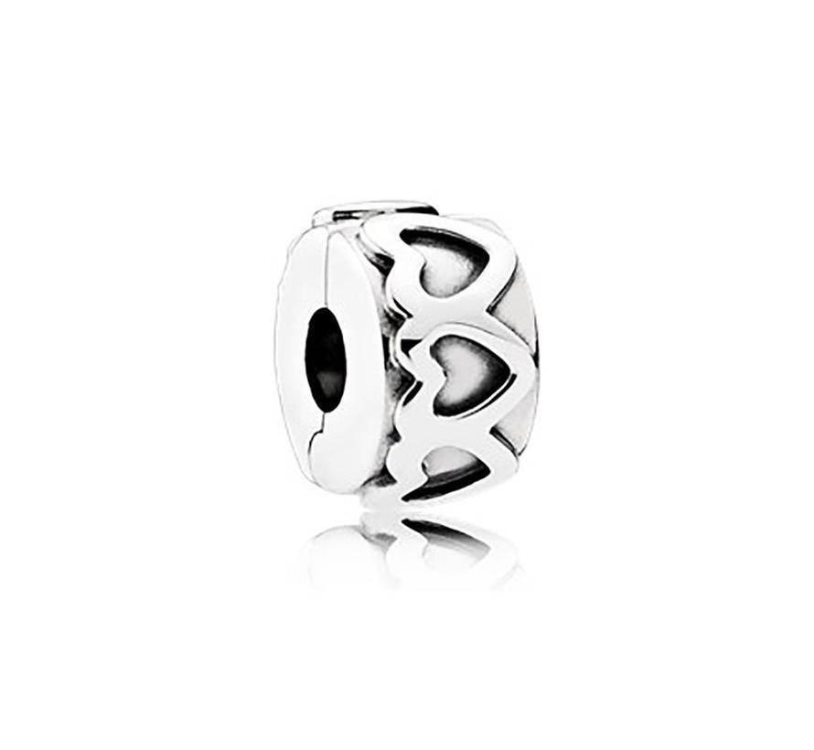 Heart silver clip 791978