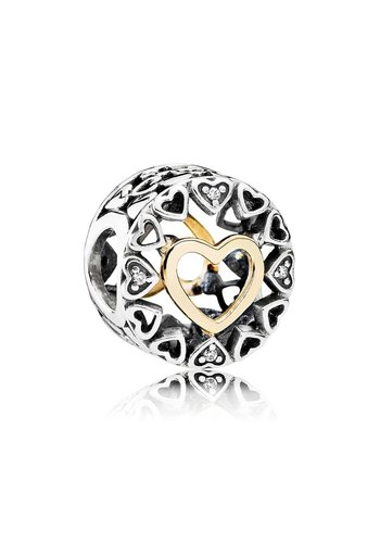 Pandora Openwork heart with 14k and clear cubic zirconia 792009CZ