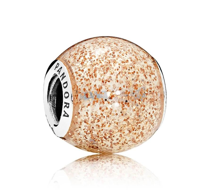 charm with Rose Golden Glitter 796327EN145