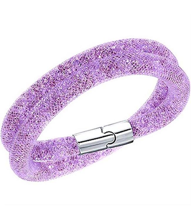 Swarovski Stardust Violet Double Bracelet