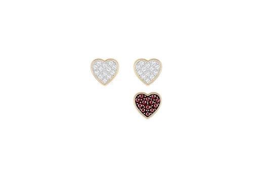 Swarovski Crystal Wishes Heart Pierced Earring Set 5272369