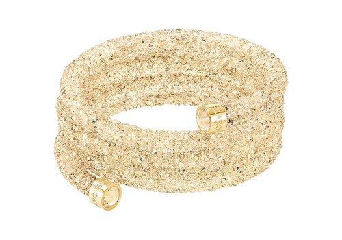 Swarovski Crystaldust Wide Bangle gold tone