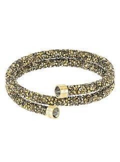 Swarovski Crystaldust Bangle Double Gold
