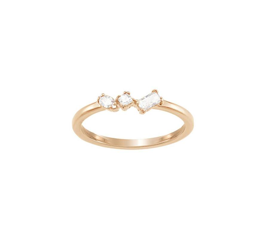 Frisson Ring Mixed Cuts rose