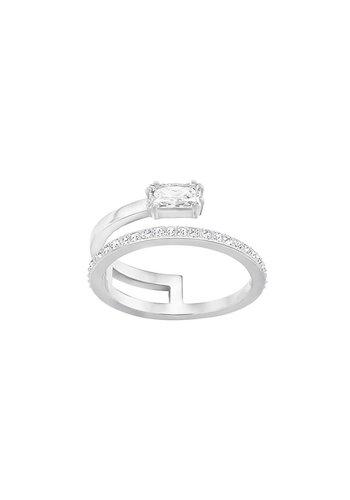 Swarovski Gray ring silver