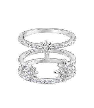 Swarovski Fizzy ring set silver