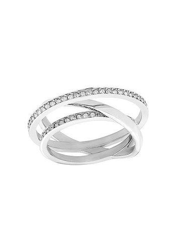 Swarovski Spiral Mini Ring Silver