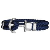 Nylon Bracelet Silver Blue PH-PH-N-S-N