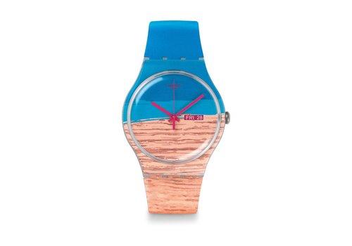 Swatch Blue Pine SUOK706