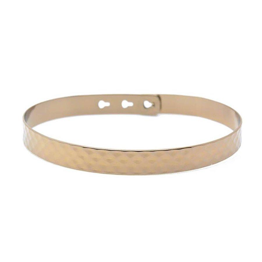 Hammered bracelet large JL-07.C