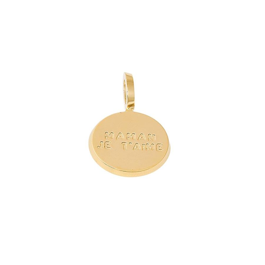 """Medal charm """"Maman je t'aime"""" PED-06.G"""