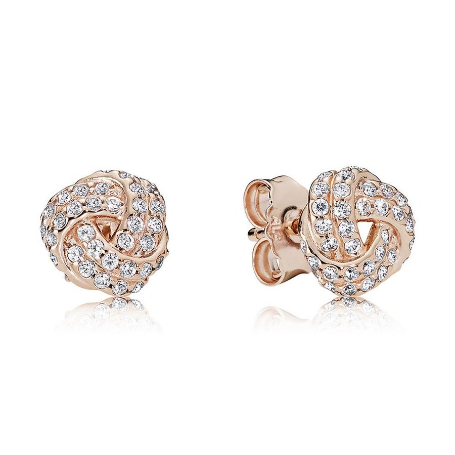 Sparkling Love Knots Rose 280696CZ